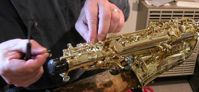 Our attention to detailed saxophone repairs is unsurpassed.